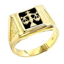 rings gold men images Mens black onyx rings 14k white gold libra scales ring jpg
