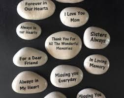 memory stones memorial etsy