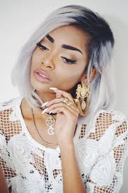 black women short grey hair grey haired bombshell or nah the rouge collection
