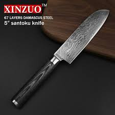 damascus steel kitchen knives xinzuo 5 inch santoku knife 67 layers china damascus steel kitchen