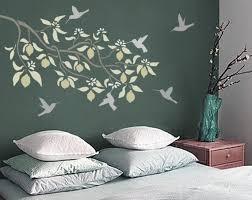 pochoir pour mur de chambre stencil for walls lemon tree branch reusable diy stenciling