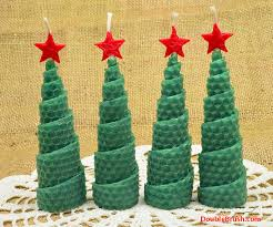 Home Decor Candles Christmas Tree Shaped Candles Holiday Home Decor Set Of 4