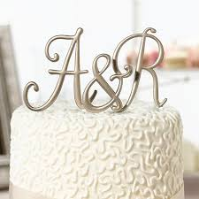 wedding cake top gold monogram cake top letters wedding cake top wherebridesgo