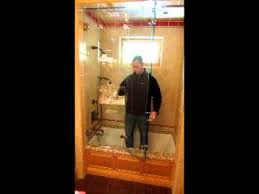 bi folding shower door installed by wilson glass youtube
