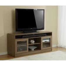 tv stand in walnut with soundbar shelf overstock com shopping