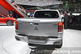 mitsubishi l200 2015 mitsubishi l200 rear at the 2015 geneva motor show indian autos blog