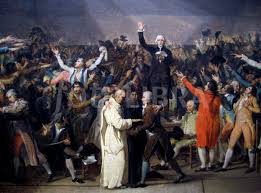 sketch by jacques louis david of the tennis court oath