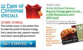 gift card specials bounce energy s 12 days of christmas specials 2010 day 10 50