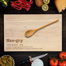 Urban Dictionary Kitchen - custom cutting board funny hangry urban dictionary definition