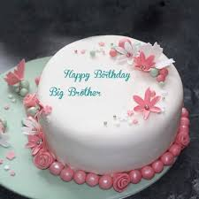 Happy Birthday Wishes To Big Write My Big Brother Name On Special Birthday Wishes Flowers Cake Pics