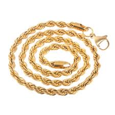rope chain necklace men images Buy men style 5mm gold plated rope design chain necklaces 22 inch jpg