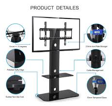 Tv Stand With Mount For 60 Inch Tv Fitueyes Adjustable Height Tv Stand With Swivel Mount Component
