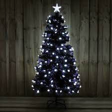5ft black tree with bright white led indoor use 370952