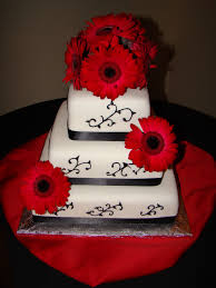 red and black wedding cake decorations beautiful spanish themed