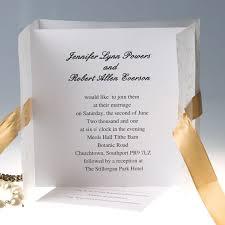 Wedding Invitations With Ribbon Elegant Gold Ribbon Gate Fold Wedding Invitations Ewri005 As Low