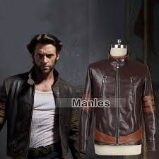 x men cosplay costume james logan howlett jacket men winter pu