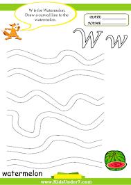 kids under 7 letter w worksheets