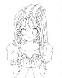 sweet anime coloring pages drawings pinterest