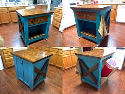Turquoise Kitchen Island by Ana White Kitchen Island With Trash Bin Diy Projects