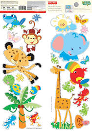 amazon com animals of the rain forest fisher price wall stickers amazon com animals of the rain forest fisher price wall stickers home improvement
