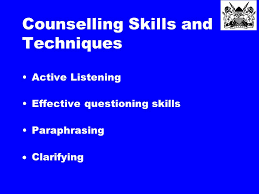 Difference Between Counselling Skills And Techniques Counselling Ppt
