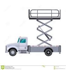 utility scissor lift truck crane stock vector image 91342189