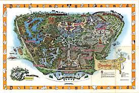disneyland california adventure map disney avenue disneyland map evolution 1955 2015