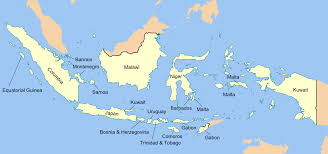 Europe Map Labeled Indonesian Islands Labeled With The European Country Closest In