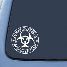 jdm sticker rear window amazon com zombie outbreak response team sticker decal notebook