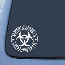 amazon com zombie outbreak response team sticker decal notebook