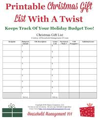 gift list printable use it to help create your