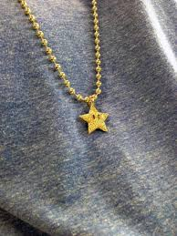 necklace pendant star images Custom mario star pendant with ball chain necklace bijouterie gonin jpeg