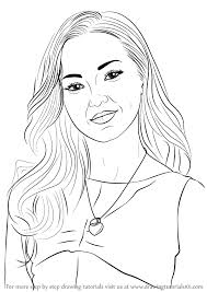 learn how to draw dove cameron celebrities step by step