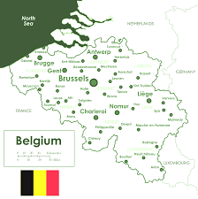 Map Of France With Cities by Map Of Belgium With Cities Evenakliyat Biz