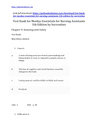 download mosbys essentials for nursing assistants 5th edition by