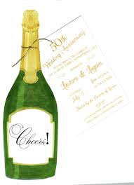 champagne bottle party invitation with glitter champagne bottles