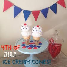 red white u0026 blue diy ice cream cones 4th of july decoration u2014