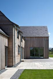 home exterior design types gleneagles self build home timber cladding architects and house