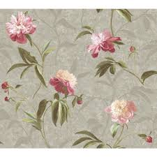 Prepasted Wallpaper York Wallcoverings Peonies Wallpaper Gn2425 The Home Depot