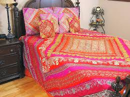 inspired bedding sari luxury decorative duvet india inspired bedding ensemble 7p