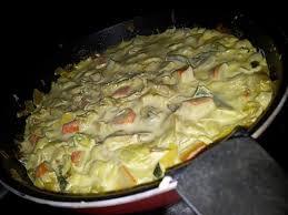 recette de poêlée de poireaux et surimi au curry