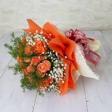 orange roses walk to the moon birthday flowers i am sorry flowers singapore