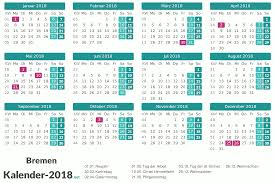 Kalender 2018 Hessen Brückentage Kalender 2018 Bremen
