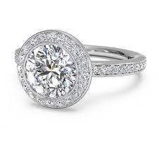 ritani engagement rings ritani micro pave halo white gold semi mount engagement