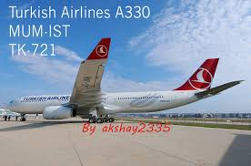 Turkish Airlines Route Map by Turkish Airlines Tc Jnm A330 343e Mumbai To Istanbul Tk Thy721