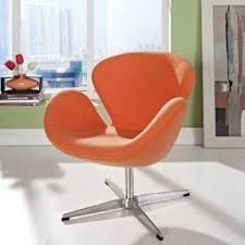 orange armchairs foter