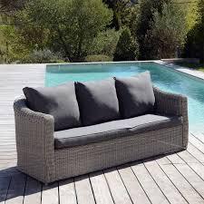 canapé de jardin 3 places giglio gris gris anthracite salon à