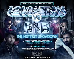 poster k che reggaeton vs rnb the showdown k che vip club
