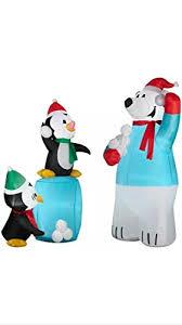 Inflatable Polar Bear Christmas Decorations by Penguin Inflatable Outdoor Decorations U2022 Comfy Christmas