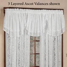 Lace Curtains And Valances Mia Damask Lace Window Treatment